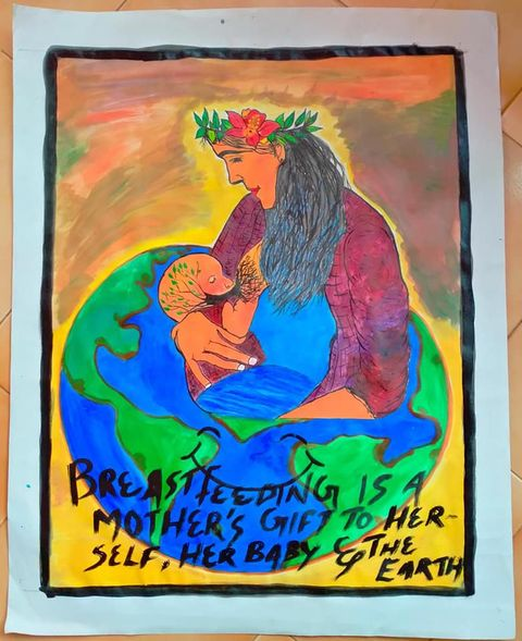 A Honour to Breast Feeding Week 2020-Poster  Making Competition